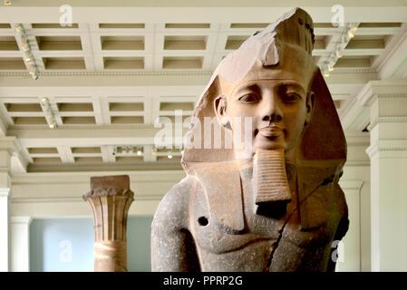 Statue of King Ramesses II British Museum, Bloomsbury, London, England, UK. - Stock Photo