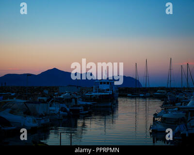 Can Picafort Harbour, Mallorca, Balearic Islands, Spain. - Stock Photo