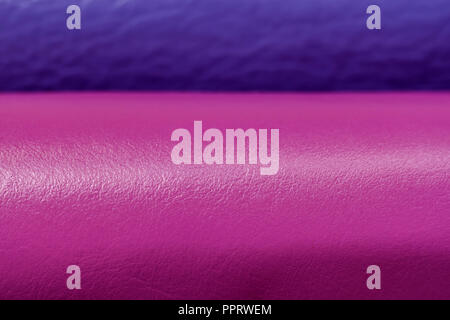 Two combining rolls of genuine leather with modern fashion shades, color companions, selective focus - Stock Photo