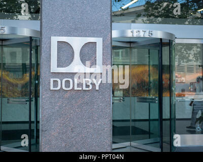 Dolby Digital Laboratories headquarters entrance and lobby - Stock Photo
