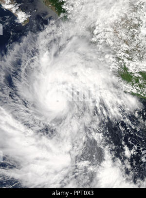 Giant cyclone on the planet Earth. Elements of this image furnished by NASA - Stock Photo