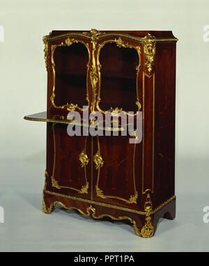 Pair of Cabinets; Bernard II van Risenburgh, French, after 1696 - about 1766, master before 1730, Paris, France; about 1745 - Stock Photo