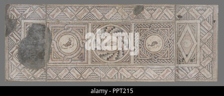 Mosaic Floor with Animals, 7, Antioch, Syria, Asia; about 400 A.D; Stone tesserae; 257.2 × 682.3 × 5.7 cm - Stock Photo