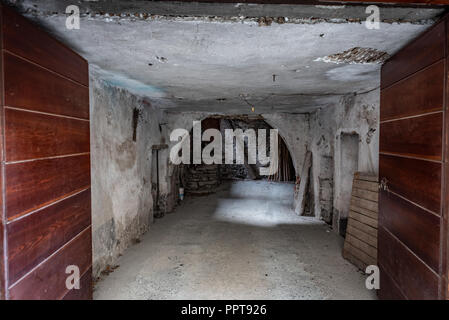 image of a characteristic door of an ancient village, horizontal image - Stock Photo