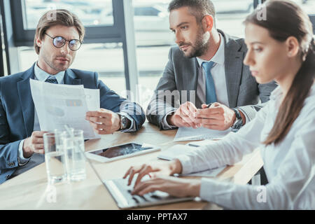 successful business people having meeting at modern office - Stock Photo