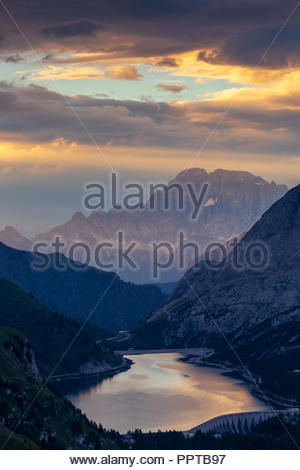 Lago Fedaia. Monte Civetta. The Dolomites - Stock Photo