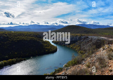 Beautiful panoramic view at river canyon/ landscape nature photography - Stock Photo