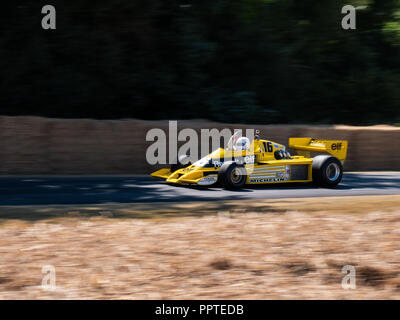 1978 Renault RS01 F1 car at Goodwood Festival Of Speed 2018.