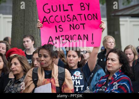 Washington, DC – September 27, 2018:  Women Hold Rally Supporting Supreme Court Nominee Brett Kavanaugh Credit: Xavier Ascanio/Alamy Live News