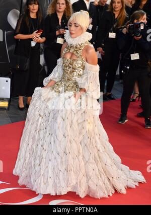 London, UK. 27th Sep 2018. Lady Gaga'A Star Is Born'- UK Premiere,Vue West End,Leicester Square,London.UK Credit: michael melia/Alamy Live News - Stock Photo