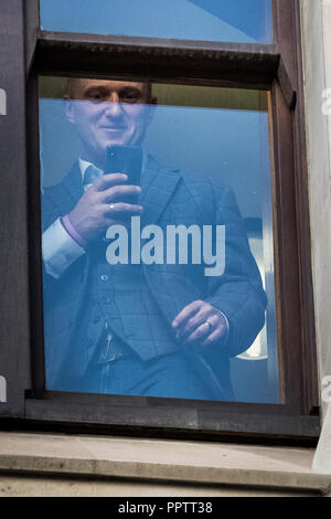 London, UK. 27th September 2018. Tommy Robinson at Old Bailey Court. Credit: Guy Corbishley/Alamy Live News - Stock Photo