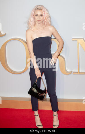 London, UK. 27th Sep 2018. Portia Freeman  Attending The London  Premiere of 'A Star is Born' held at VUE WEST END, Leicester square , Uk, Credit: Jason Richardson/Alamy Live News - Stock Photo