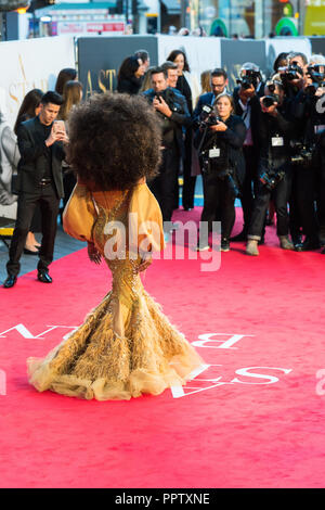 London, UK. 27th September 2018. Shangela attends the UK film premiere of 'A Star Is Born' at Vue West End in London. Credit: Wiktor Szymanowicz/Alamy Live News - Stock Photo