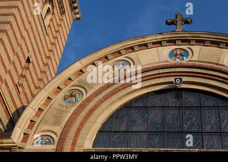 Holy Trinity Orthodox Cathedral in Sibiu, Romania - Stock Photo