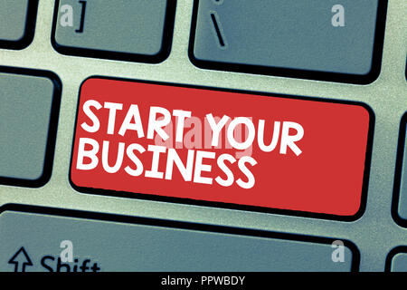 Handwriting text writing Start Your Business. Concept meaning going into a New Venture Create New Product Services. - Stock Photo