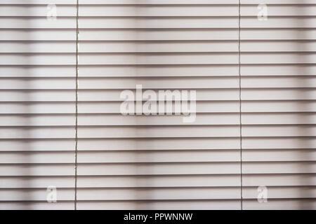 White venetian Jalouise blinds texture full frame closeup - Stock Photo