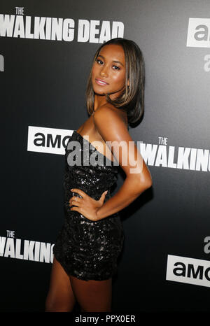 Sydney Park at the premiere of AMC's 'The Walking Dead' Season 9 held at the DGA Theater in Los Angeles, USA on September 27, 2018. - Stock Photo