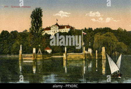 Mainau Castle on Mainau Island in Lake Constance, - Stock Photo