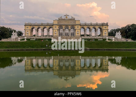 The building of a Gloriette in the park near Schönbrunn Palace Palace - Stock Photo
