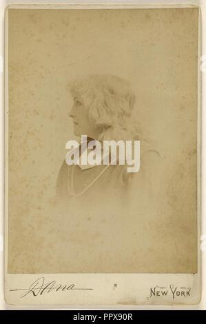 Mary Eastlake; Edward C. Dana, American, 1852 - 1897, 1889; Albumen silver print - Stock Photo
