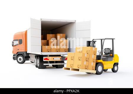 3d global cargo transport concept - Stock Photo
