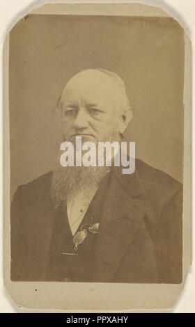 older man with a long beard, a pince-nez around his neck; Peter S. Weaver, American, active Hanover, Pennsylvania 1860s - 1910s - Stock Photo