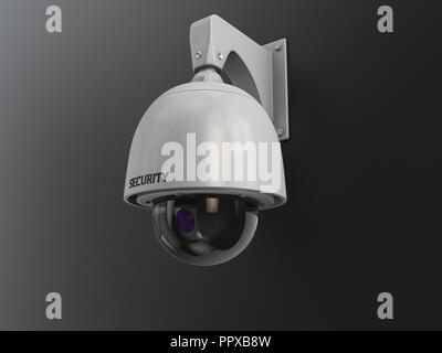 3d Illustration of CCTV camera digital video recorder, security system concept - Stock Photo