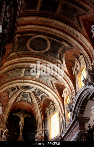 The ceiling of the cathedral in Evora in Portugal - Stock Photo