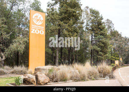 Entrance to Taronga Western Plains Zoo,Dubbo NSW Australia. - Stock Photo