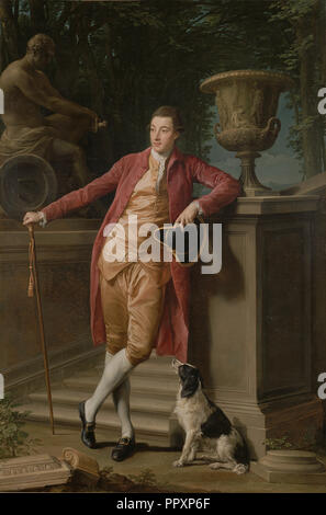 Portrait of John Talbot, later 1st Earl Talbot; Pompeo Batoni, Italian, Lucchese, 1708 - 1787, Italy; 1773; Oil on canvas - Stock Photo