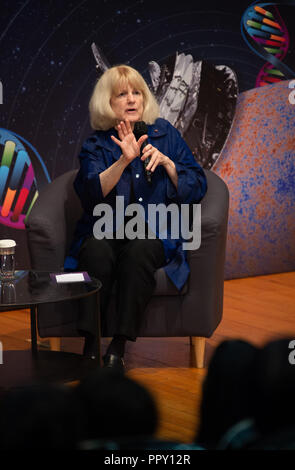 Hong Kong, . 28th Sep, 2018. Shaw Laureate in Life Science and Medicine .American Professor Mary-Claire King.2018 Shaw Laureates give a public lecture at the Hong Kong Science Museum, Tsim Sha Tsui, Kowloon. The Shaw Prize, which consists of three annual awards, namely the Prize in Astronomy, the Prize in Life Science and Medicine and the Prize in Mathematical Sciences is worth $1.2million USD to each winner. Credit: Jayne Russell/ZUMA Wire/Alamy Live News - Stock Photo