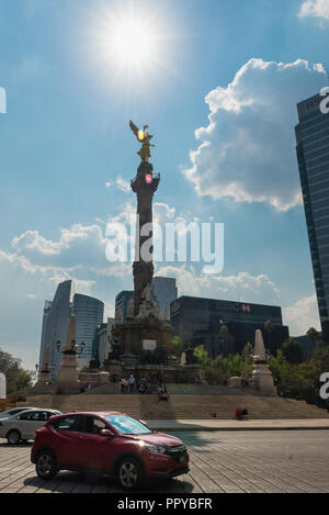 Angel of Independence monument in Mexico City - Stock Photo