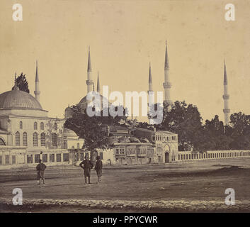 Sultan Ahmed's Mosque; Felice Beato, 1832 - 1909, James Robertson, English, 1813 - 1888, 1855 - 1857 - Stock Photo