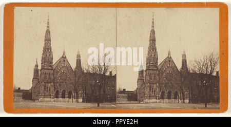 Mt. Vernon M.E. Church,Methodist Episcopal Church, Mount Vernon Square, Baltimore, Maryland; T.P. Varley, American, active - Stock Photo