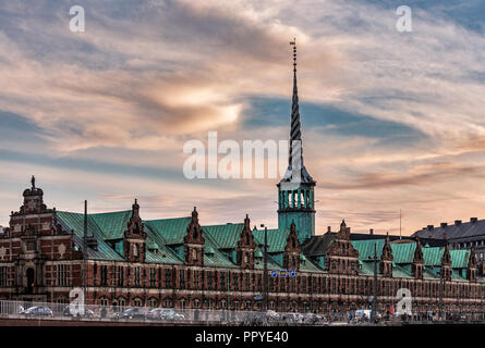 The Borsen, Old Stock Exchange Building in Copenhagen - Stock Photo