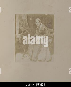 Mrs Matilda, Rigby, Smith; Hill & Adamson, Scottish, active 1843 - 1848, Scotland; 1843 - 1846; Salted paper print - Stock Photo