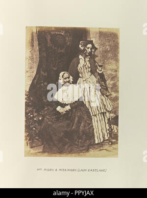 Mrs. Rigby and Miss Rigby, Lady Eastlake, Hill & Adamson, Scottish, active 1843 - 1848, Scotland; 1843 - 1848; Salted paper - Stock Photo