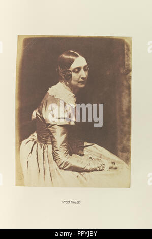Miss Rigby, Lady Eastlake, Hill & Adamson, Scottish, active 1843 - 1848, Scotland; 1843 - 1848; Salted paper print - Stock Photo