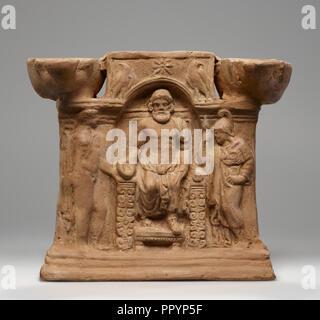 Lamp, Central Anatolia, Anatolia; 1st century; Terracotta; 17 × 16 × 7.6 cm, 6 11,16 × 6 5,16 × 3 in - Stock Photo