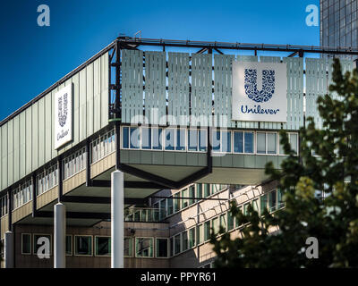 Unilever Head Office HQ building in Rotterdam - Stock Photo