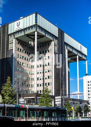 Unilever Head Office HQ building in Rotterdam Architect Jan Hoogstad, 1992 - Stock Photo
