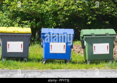 Industrial Waste Containers Dumpster for municipal and private waste - Stock Photo