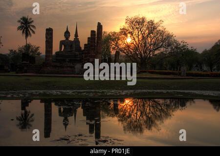 Ruins in Sukhothai in Thailand