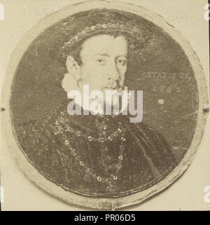 Painted portrait of Henry Howard, Earl of Surrey; about 1870 - 1890; Albumen silver print - Stock Photo