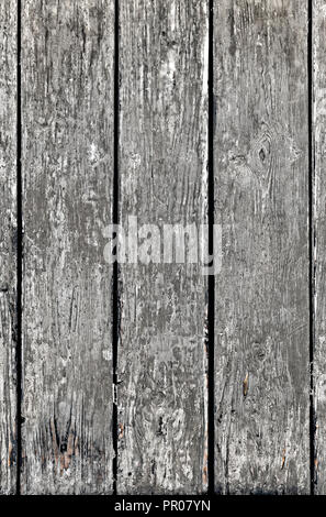Weathered wood texture or wooden planks. Run down Wood background with copy space, rough table texture. - Stock Photo