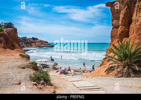 Sa Caleta beach, Ibiza, Balearic Islands, Spain, Mediterranean, Europe - Stock Photo