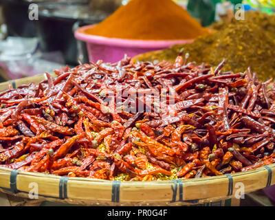 Chillies, Luang Prabang, Laos, Indochina, Southeast Asia, Asia - Stock Photo