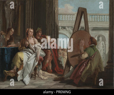 Alexander the Great and Campaspe in the Studio of Apelles; Giovanni Battista Tiepolo, Italian, 1696 - 1770, Italy; about 1740 - Stock Photo