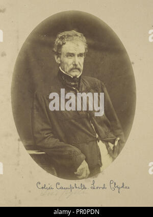 Portrait of Sir Colin Campbell Lord Clyde, Commander-in-Chief in India; Felice Beato, 1832 - 1909, Lucknow - Stock Photo