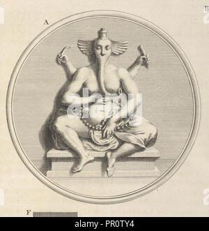 Pulleyar, Ceremonies et coutumes religieuses de tous les peuples du monde, unknown, Engraving, 1723-1743 - Stock Photo